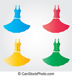 Dress - This image is a vector illustration and can be...