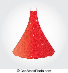 Elegan dress - This image is a vector illustration and can...