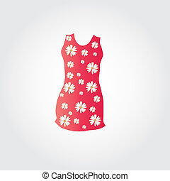 Nice dress - This image is a vector illustration and can be...