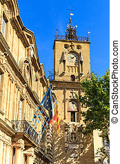 Clock Tower, Aix en Provence, France - Clock Tower, Ville...