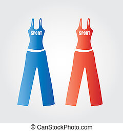 Tanktop sporty - This image is a vector illustration and can...