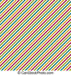 Seamless Diagonal Stripes - Diagonal stripe pattern in hot...