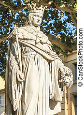 Statue of King Rene of Anjou, Aix-en-Provence, France