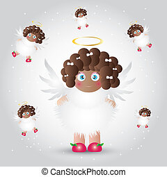 Angel baby - This image is a vector illustration and can be...