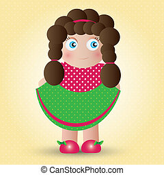 Babydoll - This image is a vector illustration and can be...