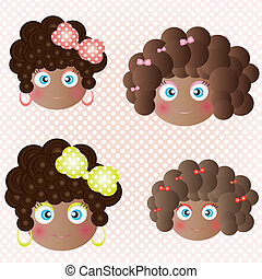 Black skin babydoll - This image is a vector illustration...