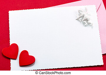 Valentine's greeting card with cupid