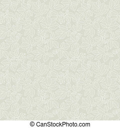 Seamless light beige leaf pattern Vector illustration