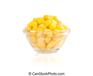 tinned corn isolated on white