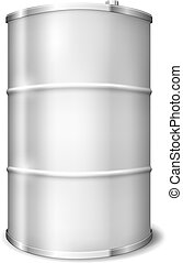 Metal Barrel - Vector Metal barrel over white background