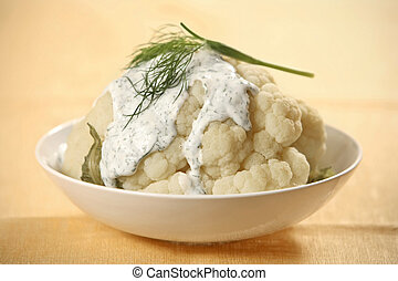 boiled cauliflower