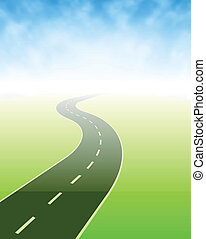 Road Going Somewhere - Illustration of a road going...