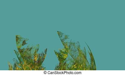 Algae Abstract in Undercurrent, Seamless Loop Animated...