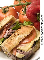 gourment roast beef sandwich - gourmet roast beef sandwich...