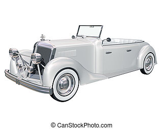 Classic wedding car - Illustration of a retro classic car...