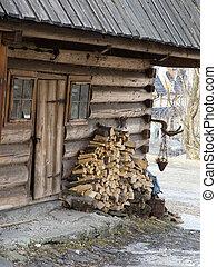 Traditional polish wooden hut from Zakopane, Poland