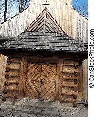 old wooden church in Zakopane, Podhale, Poland