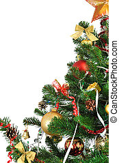 Christmas tree - decorated Christmas tree on white...