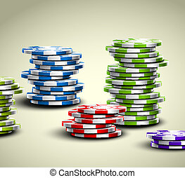 Colorful casino chips - Set of colorful casino chips Eps 10