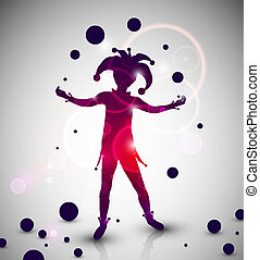 Jester juggler - Abstract background with jester juggles Eps...