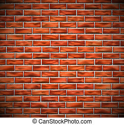 Red brick wall background. Eps 10