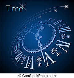 Clock background - Abstract clock background - conceptual...