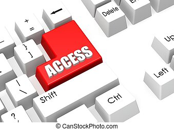Access - Rendered artwork with white background