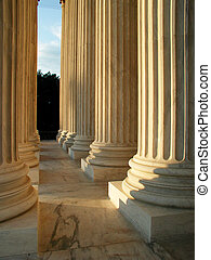 Columns - Classical columns as seen from inside the portico...
