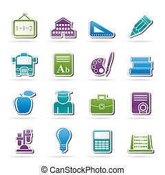 school and education icons - vector icon set