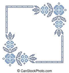 Cross-stitch embroidery in Ukrainian style - Cross-stitch...
