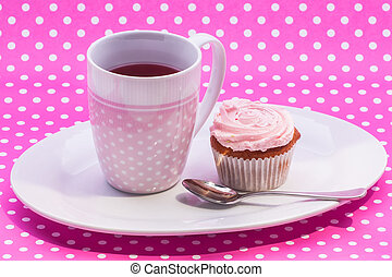 Cranberry tea with dessert