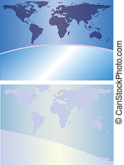 Globe background - Two abstract backgrounds in blue tones...