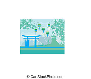 Decorative Chinese landscape