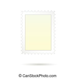 post stamp vector on white background