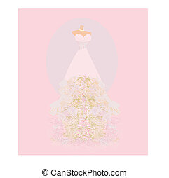 Wedding dress for Wedding invitations