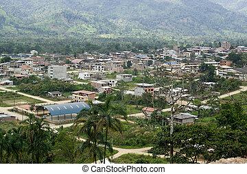 View of Yantzaza Ecuador - View overlooking Yantzaza...