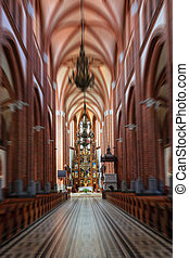 Interior of Church - A blur of interior of the church facing...
