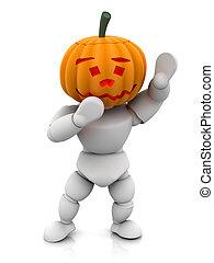 Pumpkinman - 3D render of pumpkin man