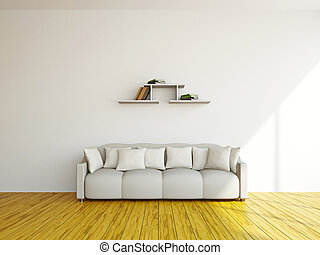 White sofa and in the livingroom - White sofa in the...