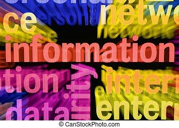 informação, palavra, nuvem
