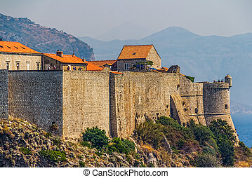 Dubrovnik old town city walls