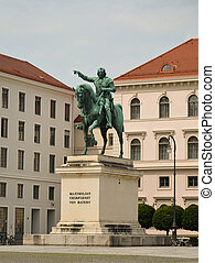Maximilian churfuerst von bayern - View of a statue of...