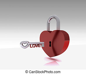 The key of the Heart - 3D