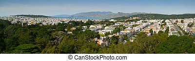 San Francisco Richmond District Panorama from Golden Gate...