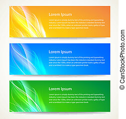 Abstract smooth lines banners set Vector background