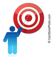 people - man, person pointing a target illustration design...