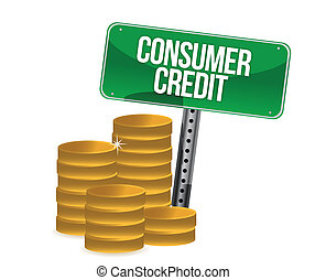 Consumer credit stack of coins