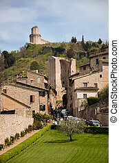 View from the fortress-assisi - View of the city and...