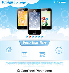 Modern website template for mobile company - Modern seasonal...