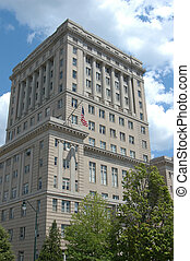 Asheville North Carolina - A large office building in...